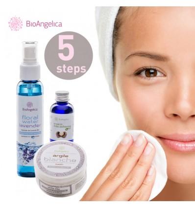 5 lépéses szépségápoló csomag érzékeny és dehidratált bőrre